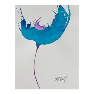 Ocean Blue, Original Watercolor Painting. For Sale