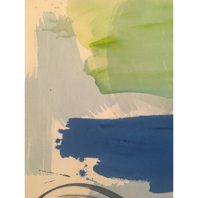 """1980 """"Cyprus Sea"""" Abstract Painting - Image 6 of 11"""