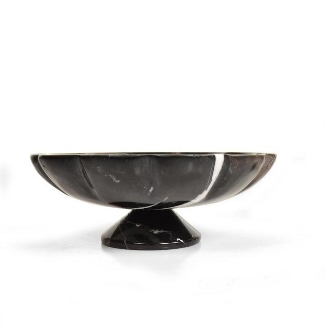 Black Marble Mid-Century Modern Decorative Italian Black Marble Fruit Bowl After Mangiarotti For Sale - Image 7 of 7
