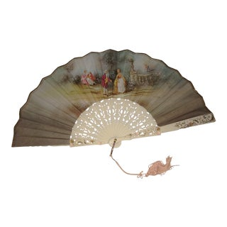 Antique European Hand Fan For Sale