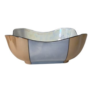 Art Deco Czechoslovakian Lusterware Bowl