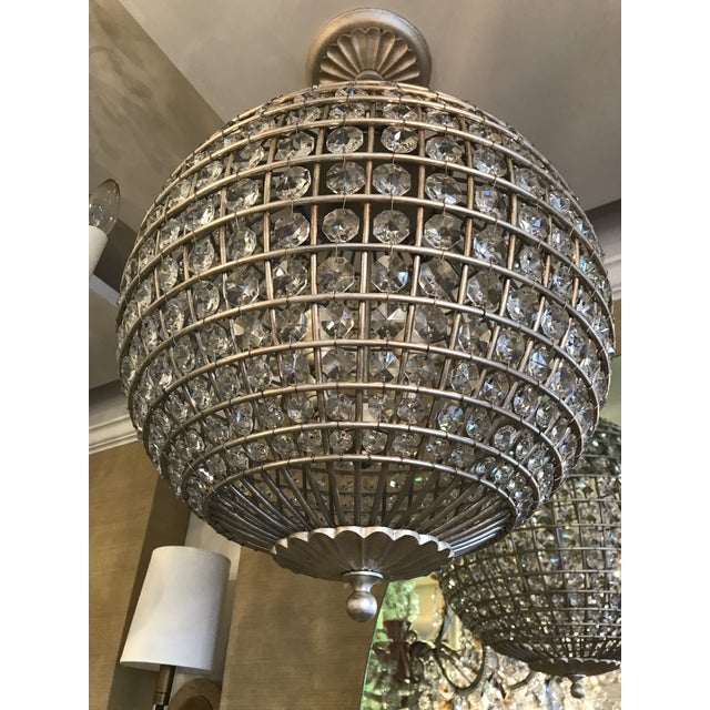 Visual Comfort Renwick Crystal Sphere Pendant Light For Sale In New York - Image 6 of 6