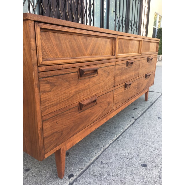 Mid-Century Dresser With Sculpted Pulls - Image 9 of 11