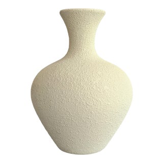 Mid-Century Royal Haeger Textured White Vase For Sale