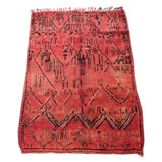 Azilal Tribal Design Moroccan Rug - 4'7'' x 6'6''