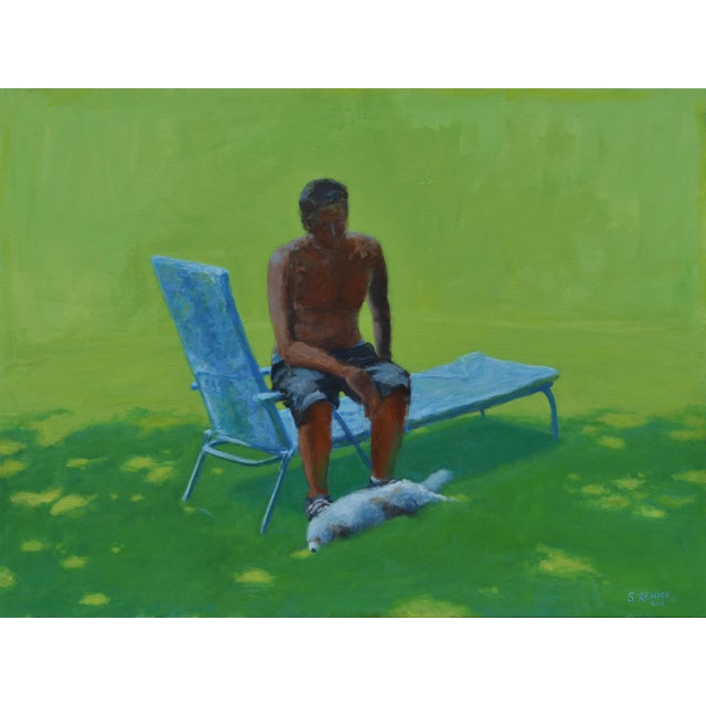 """""""Resting in the Shade"""", Stephen Remick Contemporary Painting For Sale - Image 13 of 13"""