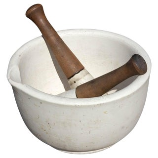 Early 20th Century Mammoth Apothecary Mortar and Pestle For Sale