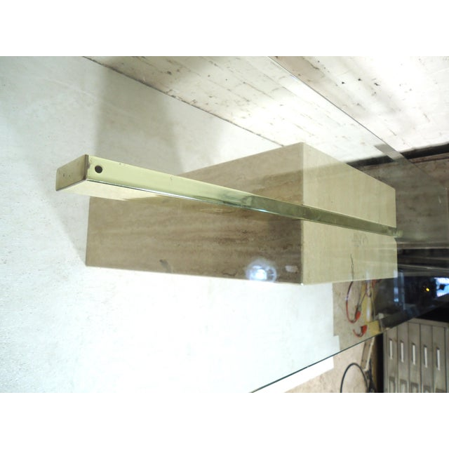 Elegant Travertine Console Table by Artedi For Sale In New York - Image 6 of 9