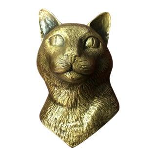 Michael Healy Bronze Cat Door Knocker For Sale