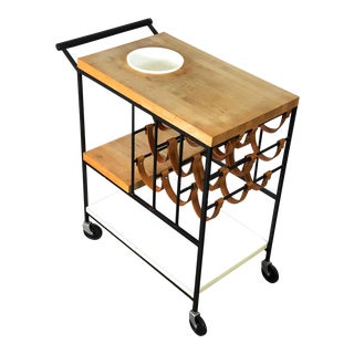 Modernist Bar Serving Cart by Arthur Umanoff 1950's For Sale