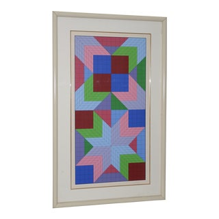 "Victor Vasarely ""The Door"" Original Serigraph Signed / Numbered C.1982 For Sale"
