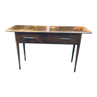 Vintage Mid Century Modern Lane Console Table With Drawer For Sale