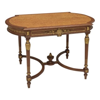 Louis XVI Style Partial Gilt Salon Table