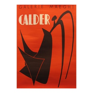 1974 Original Exhibition Poster - Fondation Maeght - Moments Musicaux De Cinq à Sept by A. Calder For Sale