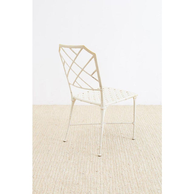 Brown Jordan Calcutta Faux Bamboo Garden Chairs For Sale - Image 9 of 13