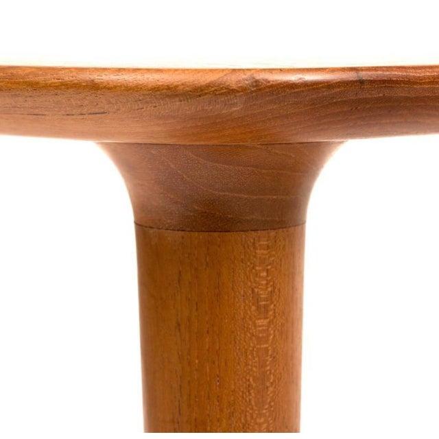 Tan DUX Mid-Century Teak Guitar Pick Tables - A Pair For Sale - Image 8 of 9