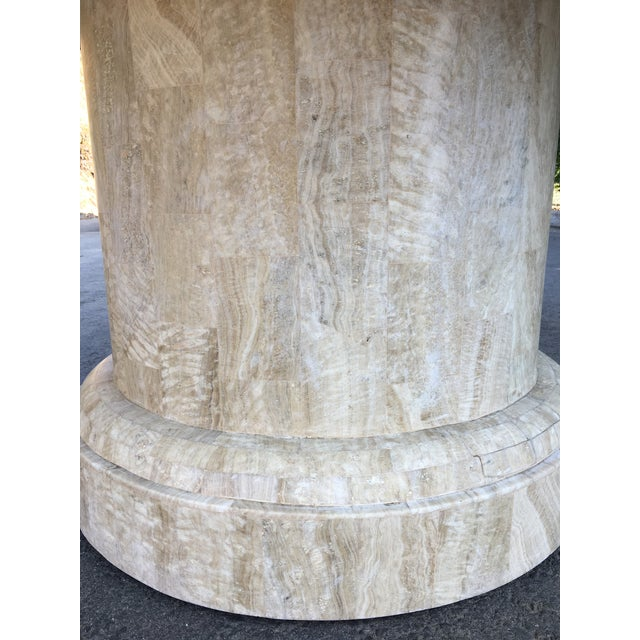 1980s Maitland-Smith Round Leather Top Dining Table For Sale - Image 5 of 11