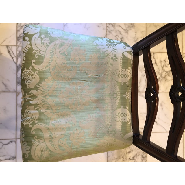 Pistachio Chippendale Style Ribbon Back Dining Chairs - Set of 6 For Sale - Image 8 of 11