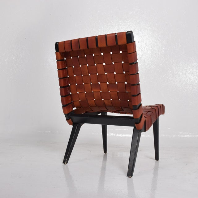 Pair of Jens Risom Lounge Chairs for Knoll For Sale - Image 9 of 12