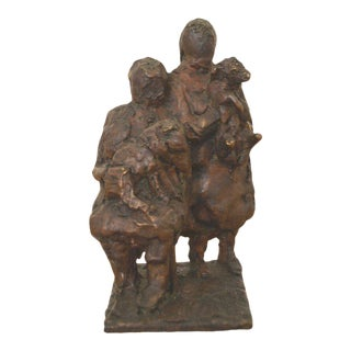 """Women With Dogs"" in Bronze by Erik Varming For Sale"