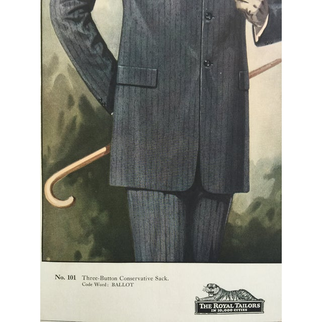 """1923 Tailor's Shop Poster for Men's Fashions 16"""" X 21"""" For Sale In New York - Image 6 of 6"""
