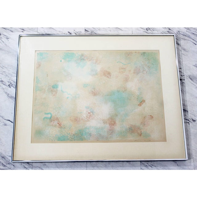 For your consideration is a magnificent, framed, abstract lithograph, signed Natkin and numbered 57/150, dated 1972. In...