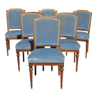 French Louis XVl Solid Mahogany Dining Chairs - Set of 6