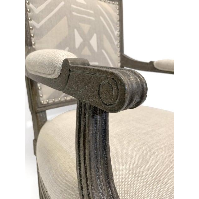Palecek Lion Square Back Arm Chair For Sale In Atlanta - Image 6 of 10