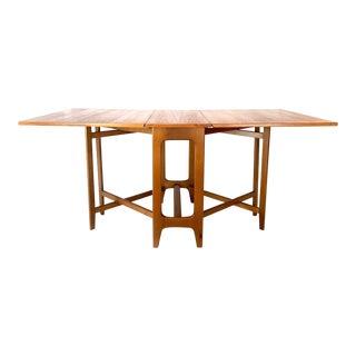Kleppes Mobelfabrikk Bendt Winge Mid-Century Modern Drop-Leaf Teak Dining Table