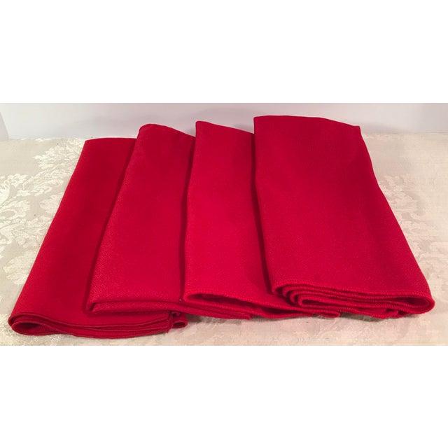 Vintage Red Napkins - Set of 4 For Sale In Dallas - Image 6 of 6