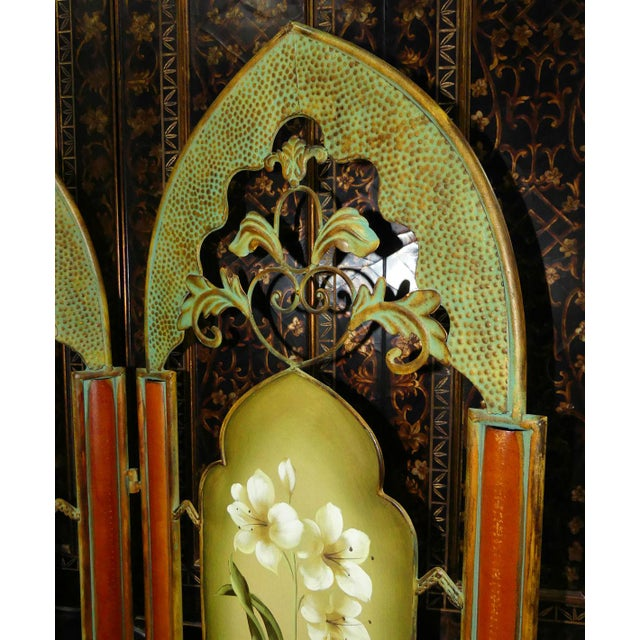 Metal Painted Metal Room Divider/ Floor Screen or Queen Size Headboard For Sale - Image 7 of 13