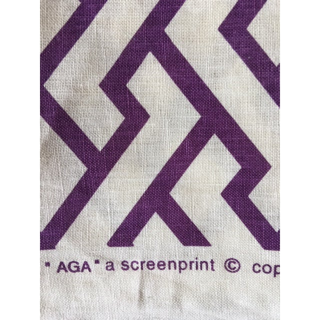 "2010s Quadrille /China Seas ""Aga"" Print Linen Purple Fabric For Sale - Image 5 of 5"