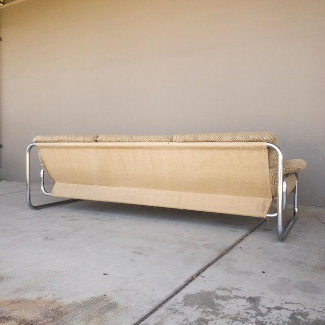 1970s Vintage Chrome Sling Sofa For Sale - Image 4 of 8