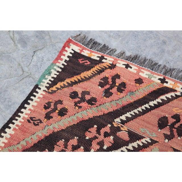 Textile 1970s Vintage Turkish Kilim Rug - 1′10″ × 2′4″ For Sale - Image 7 of 12