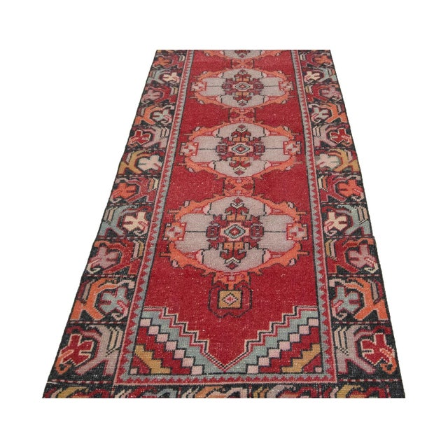 Vintage handknotted rug from Konya region of Turkey. Approximately 50-60 years old. In very good condition.