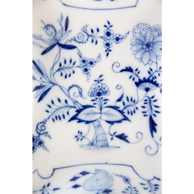 Cottage Blue Onion Square Porcelain Dish For Sale - Image 3 of 6