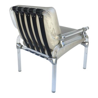 Acrylic and Leather Lounge Chair by Jeff Messerschmidt