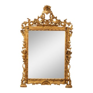 Early 20th Century Giltwood Italian Mirror For Sale