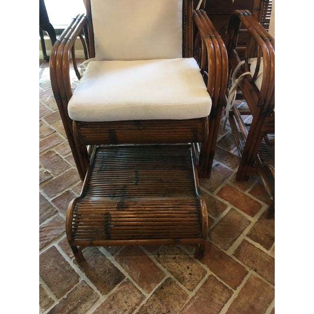 1920s Vintage French Indochina Bamboo Lounge Chairs- A Pair For Sale In West Palm - Image 6 of 12