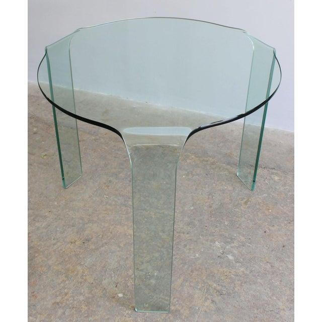 Fiam Italia Fiam Italy Molded Glass Table For Sale - Image 4 of 6