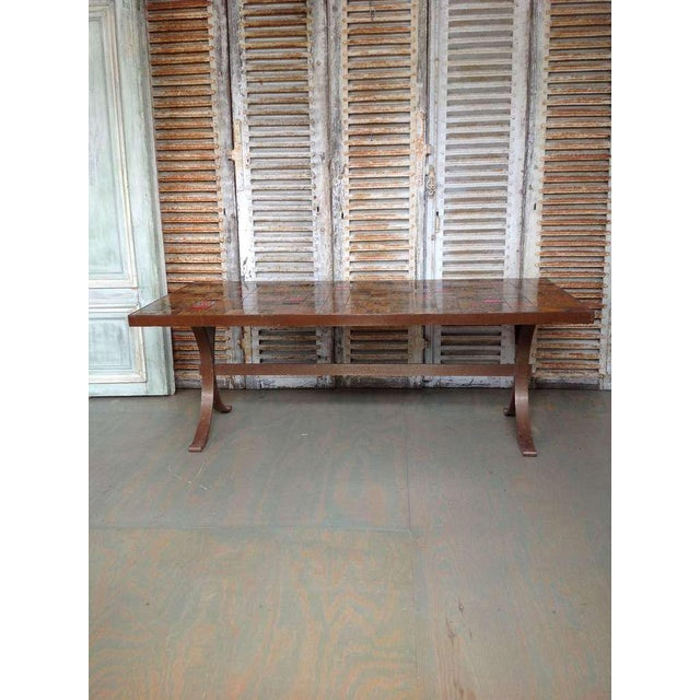 French 1960s Dining Table With Ceramic Tiled Top - Image 2 of 11