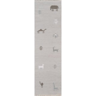 "Erin Gates by Momeni Thompson Porter Grey Runner - 2'3"" X 8' For Sale"