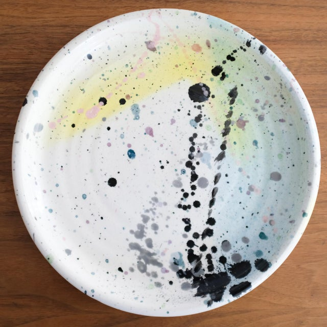 Peter Shire ceramic plate from 1980. This is an early work by the Los Angeles-based artist and founding member of The...