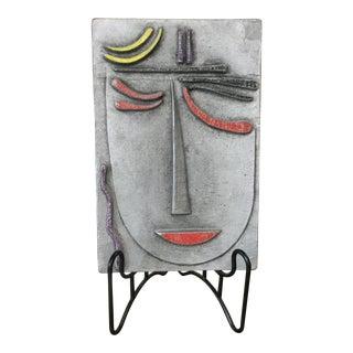 Modern Metal Face Sculpture