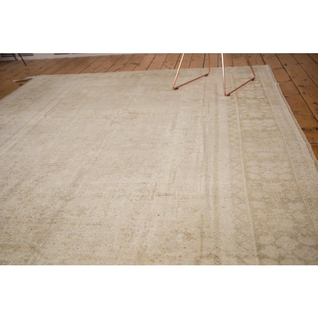 """Textile Vintage Oushak Carpet - 7'3"""" x 12'2"""" For Sale - Image 7 of 7"""