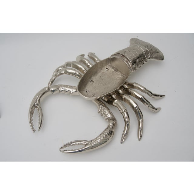 Early 21st Century Nickel-Plated Lobster Figure Serving Dish by Angel & Zevallos C. 2018 For Sale - Image 5 of 10