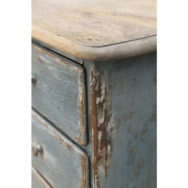 Mid 19th Century 19th Century Painted Three-Drawer Commode For Sale - Image 5 of 11