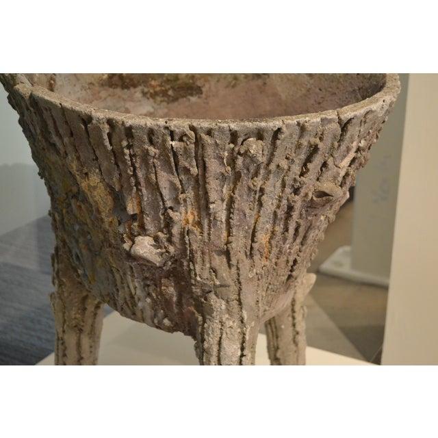 Concrete Cement Faux Bois Planters From Belgium, - a Pair For Sale - Image 7 of 11
