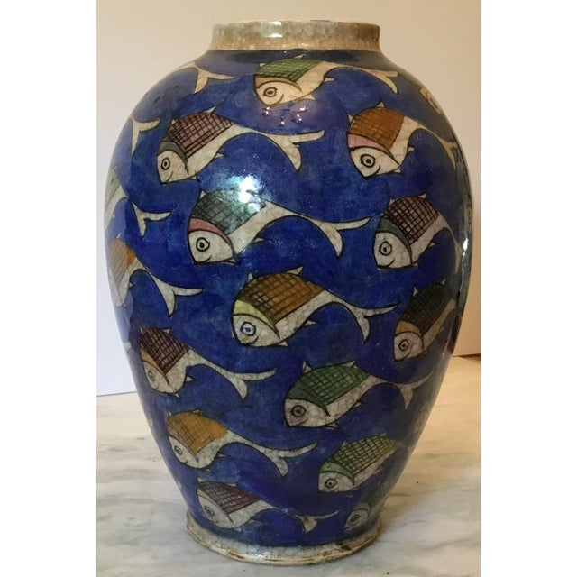 Vintage Persian Fish Vase For Sale - Image 7 of 11