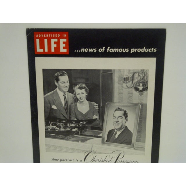 Americana C. 1950 Life Magazine Cardboard Advertising Display Sign For Sale - Image 3 of 5